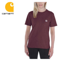 Dámske tričko Carhartt Workwear Pocket Short Sleeve T-Shirt / Deep Wine