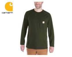 Tričko Carhartt Force Cotton Long Sleeve T-Shirt / Moss